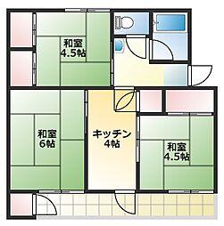 鈴谷住宅1棟[4階]の間取り