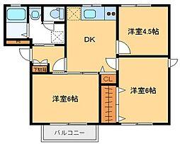 クレールハイツA[1階]の間取り