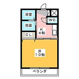 メゾンタットル[2階]の間取り
