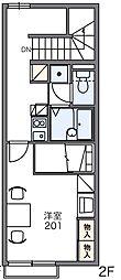 レオパレスラ ボエーム[1階]の間取り