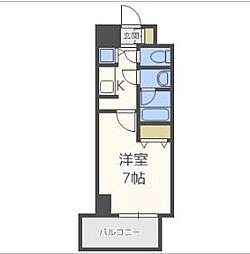 アクアプレイス東天満II[4階]の間取り