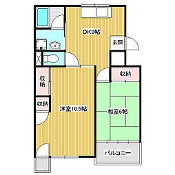 コーポ小林Ⅱ[4階]の間取り