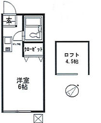 神奈川県川崎市麻生区千代ケ丘2丁目の賃貸アパートの間取り