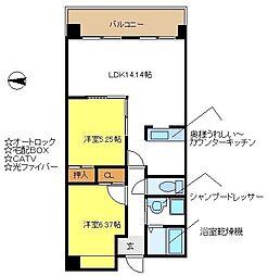 SPICA.K.E[4階]の間取り