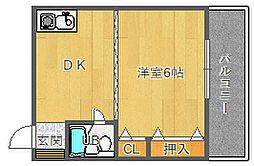 コンフォート千里山[2階]の間取り