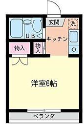 KAWASUMIハイツ[106号室]の間取り