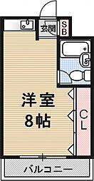 カーサ桃山[107号室号室]の間取り