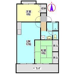 セジュールKONO C[2階]の間取り