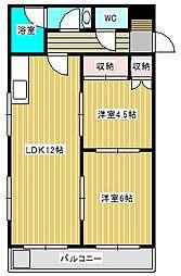 サンライトハイツII[4階]の間取り