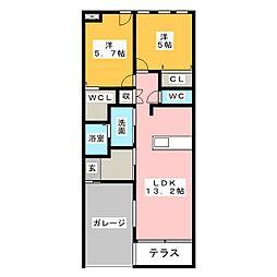 パレスカニエ[1階]の間取り