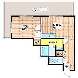 トラスティ加美[702号室]の間取り