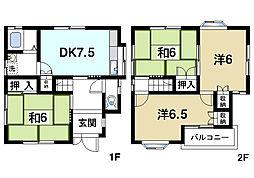 [一戸建] 奈良県奈良市秋篠町 の賃貸【奈良県 / 奈良市】の間取り