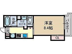 アンソレイユ茨木中津町[2階]の間取り