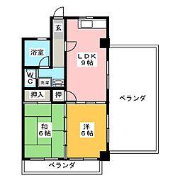 松南ビル[3階]の間取り