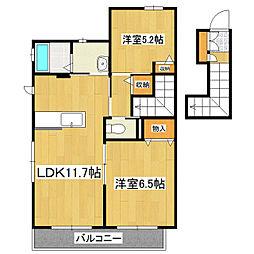 ベル タウン II棟[2階]の間取り