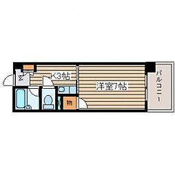 ジャスティヒルト高須[5階]の間取り