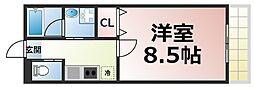 近鉄大阪線 布施駅 徒歩8分の賃貸マンション 10階1Kの間取り