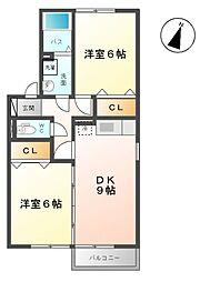 ホクトB[2階]の間取り