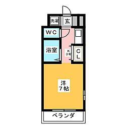 マ・メゾン中島II[3階]の間取り