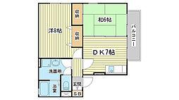 ユウハイツ・山崎[202号室]の間取り
