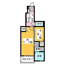 リンム三好ヶ丘[1階]の間取り