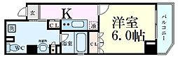 Osaka Metro中央線 堺筋本町駅 徒歩7分の賃貸マンション 3階1Kの間取り