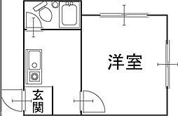 豊岡市正法寺 ヒルズアべニューひとみ 2階1Kの間取り