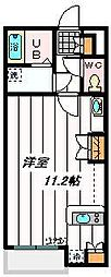 東武野田線 東岩槻駅 徒歩11分の賃貸アパート 2階ワンルームの間取り