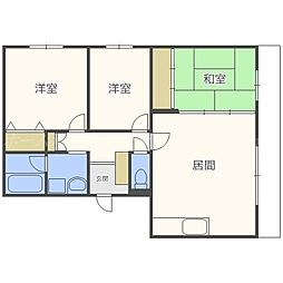 北海道札幌市東区北三十六条東27丁目の賃貸マンションの間取り