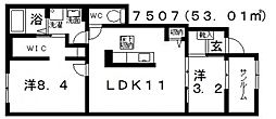 House Eureka(ハウスユーリカ)[101号室号室]の間取り