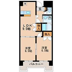 リリーマンション1号館[8階]の間取り
