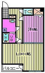 グランステージ東浦和[201号室]の間取り