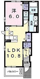 ウエストヒル神戸[1階]の間取り