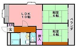 種村マンション3番館[203号室]の間取り