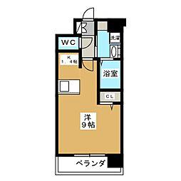 プレサンス京都烏丸爛都[7階]の間取り