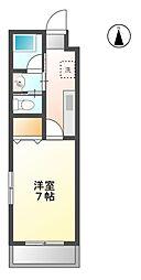 静岡県静岡市葵区瀬名1丁目の賃貸マンションの間取り