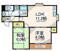 アクエルドK[1階]の間取り
