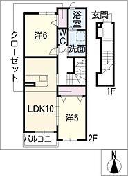 サン ブリーズ II[2階]の間取り