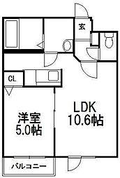 ハルトラーテ大通[3階]の間取り