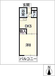 メゾンドゥ小幡[1階]の間取り