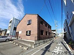 群馬県高崎市赤坂町の賃貸アパートの外観