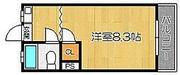 福岡県福岡市東区松香台1丁目の賃貸アパートの間取り