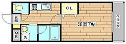 ベルタージ21[6階]の間取り