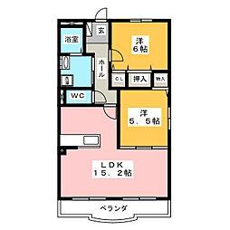 レインボーヒル[3階]の間取り
