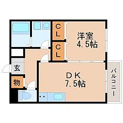 セジュールH・A[1階]の間取り