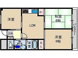 マンショングリーンヒル[4階]の間取り