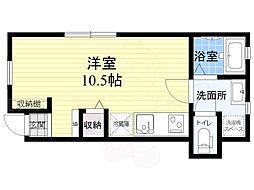 コーポICHIYOSHI 1階ワンルームの間取り