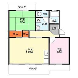 滋賀県栗東市林の賃貸マンションの間取り