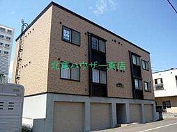 北海道札幌市東区北四十三条東16丁目の賃貸アパートの外観