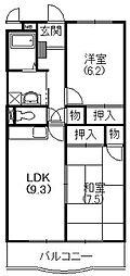 静岡県浜松市南区三和町の賃貸マンションの間取り